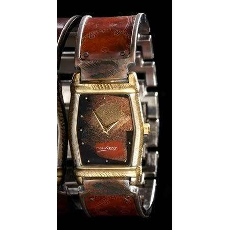 Eduardo Milieris Montevideo Watch: Copper Dial Design on Wide Band