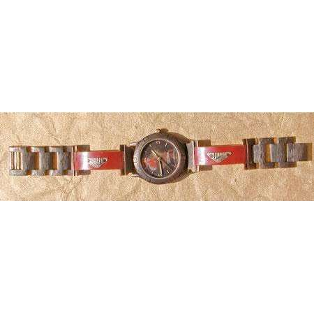 Eduardo Milieris Porthole Watch: Large Copper Trim & Vintage Bits on Narrow Band