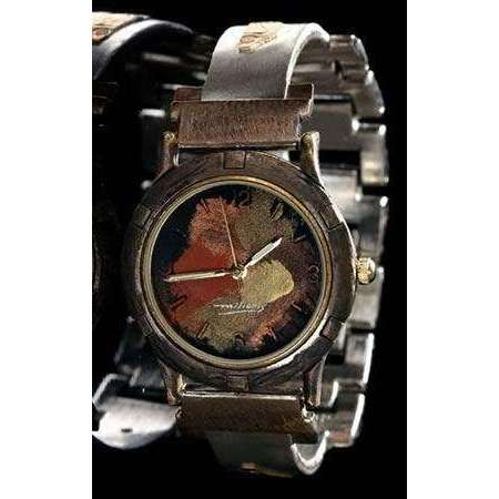 Eduardo Milieris Porthole Watch: Large Silver Trim & Vintage Bits on Narrow Band