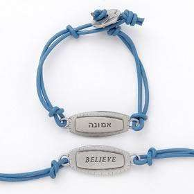 Emily Rosenfeld Hebrew/English Believe Bracelet