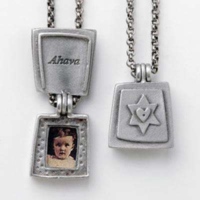 Emily Rosenfeld Pewter Ahava Locket