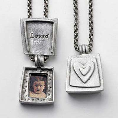 Emily Rosenfeld Pewter Loved Locket