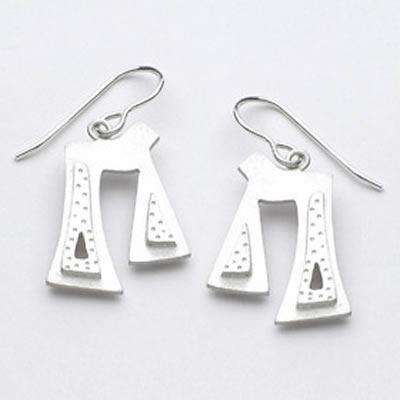 Emily Rosenfeld Sterling Silver Chai Earrings