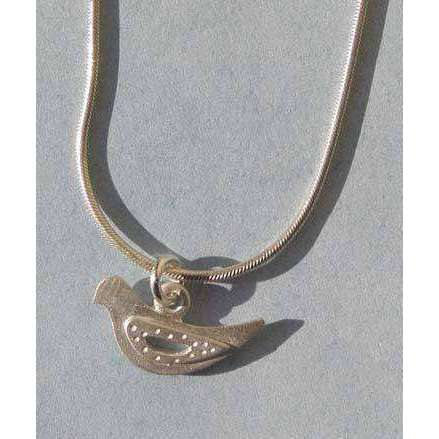 Emily Rosenfeld Sterling Silver Dove Necklace