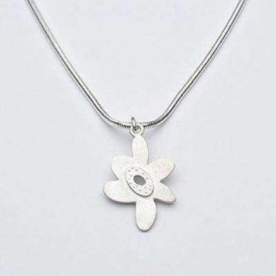 Emily Rosenfeld Sterling Silver Flower Necklace