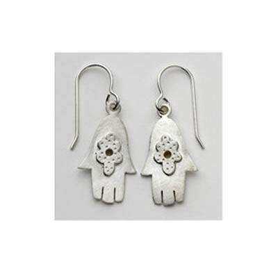 Emily Rosenfeld Sterling Silver Hamsa Earrings