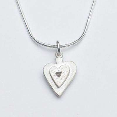 Emily Rosenfeld Sterling Silver Heart Necklace
