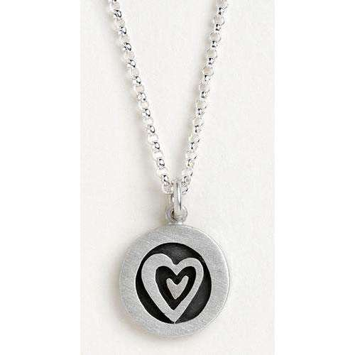 Emily Rosenfeld Sterling Silver Heart Vignette Necklace
