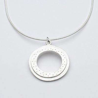 Emily Rosenfeld Sterling Silver Open Circle Necklace