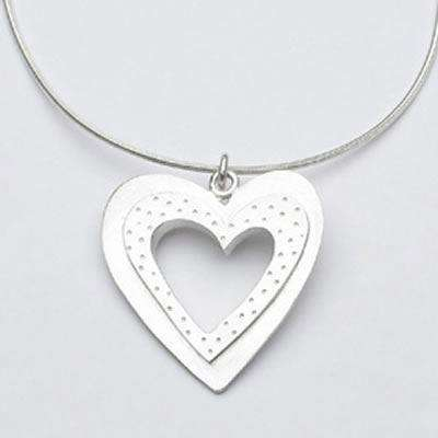 Emily Rosenfeld Sterling Silver Open Heart Necklace