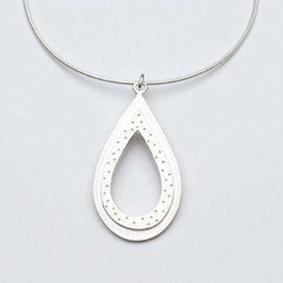 Emily Rosenfeld Sterling Silver Open Teardrop Necklace
