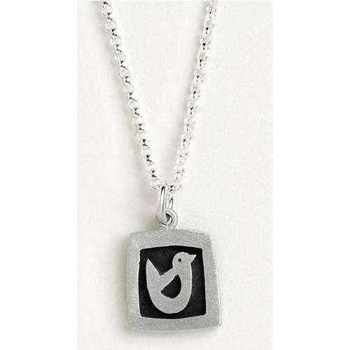 Emily Rosenfeld Sterling Silver Peace Dove Charm Necklace