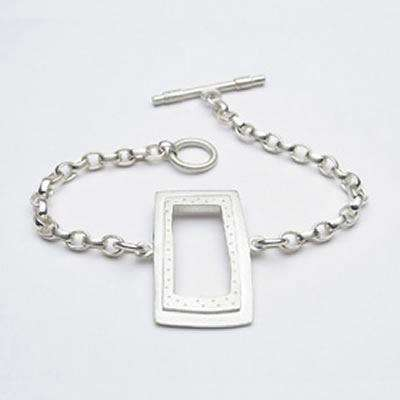 Emily Rosenfeld Sterling Silver Rectangle Bracelet