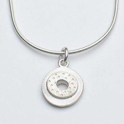 Emily Rosenfeld Sterling Silver Small Circle Necklace
