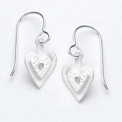 Emily Rosenfeld Sterling Silver Small Heart Earrings