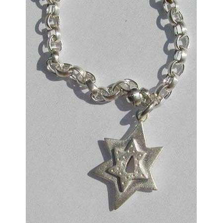 Emily Rosenfeld Sterling Silver Star of David Charm Bracelet