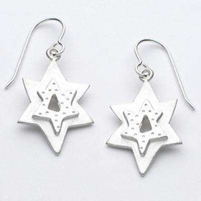 Emily Rosenfeld Sterling Silver Star of David Earrings