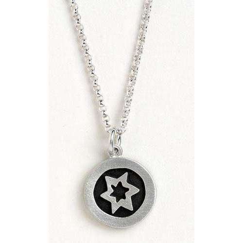 Emily Rosenfeld Sterling Silver Star of David Vignette Necklace