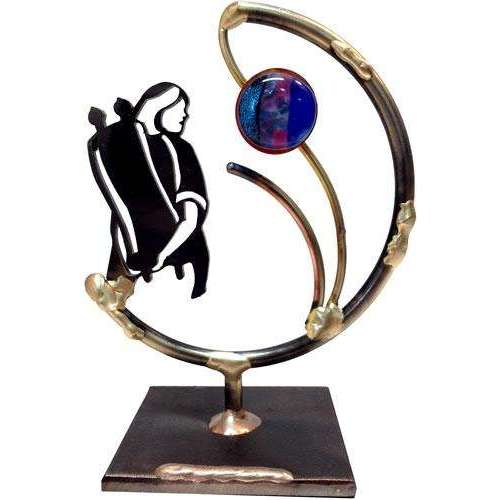 Gary Rosenthal Bat Mitzvah Sculpture With Glass Bead