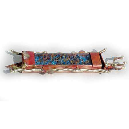 Gary Rosenthal Broken Glass Wedding Mezuzah
