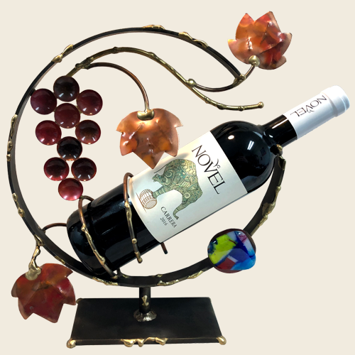 Gary Rosenthal Grapes and Leaves Wine Holder