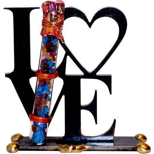 Gary Rosenthal Love Sculpture With Wedding Glass Tube