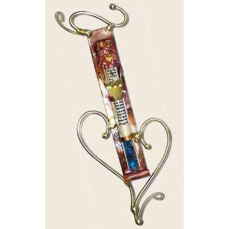 Gary Rosenthal Mezuzah with Brass Heart