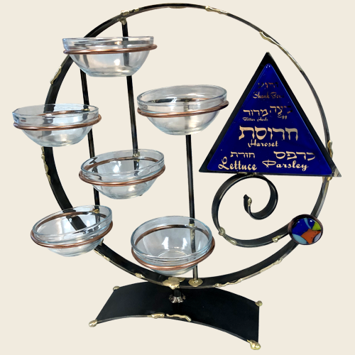 Gary Rosenthal Round Vertical Passover Seder Plate