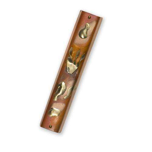 Gary Rosenthal Shin on Metal Mezuzah