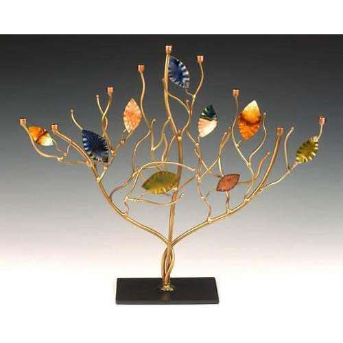 Infinity Art in Metal Branches of Brilliance Menorah