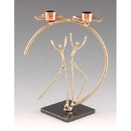 Infinity Art in Metal Celebration of Life Candlesticks