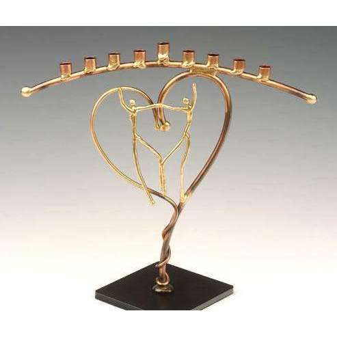 Infinity Art in Metal Celebration of Love Menorah