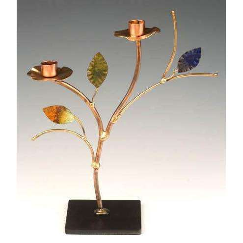 Infinity Art in Metal Colorful Tree Candle Holders