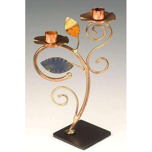 Infinity Art in Metal Gentle Curves Candleholder