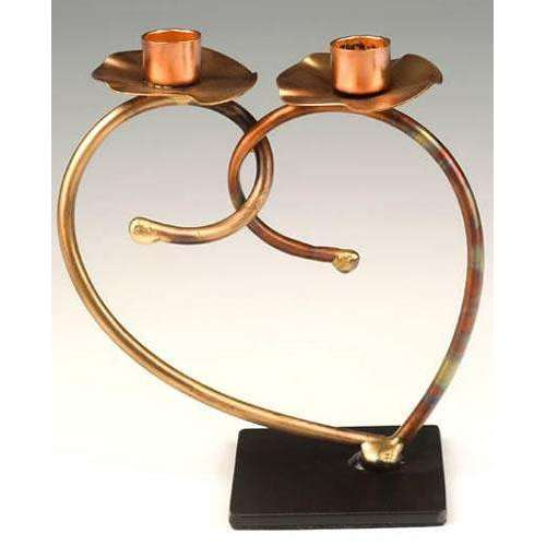 Infinity Art in Metal Linked in Love Candlesticks