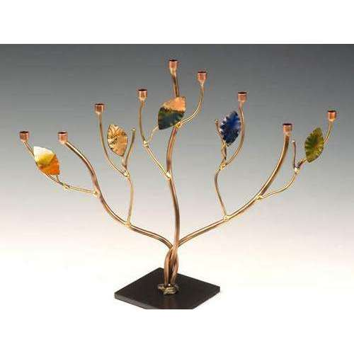 Infinity Art in Metal Tree of Life Menorah