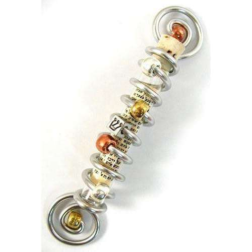 Jillery Multi Metal Double Spiral with Shin Mezuzah
