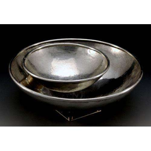 Joy Stember Pewter and Brass Apple and Honey Dish