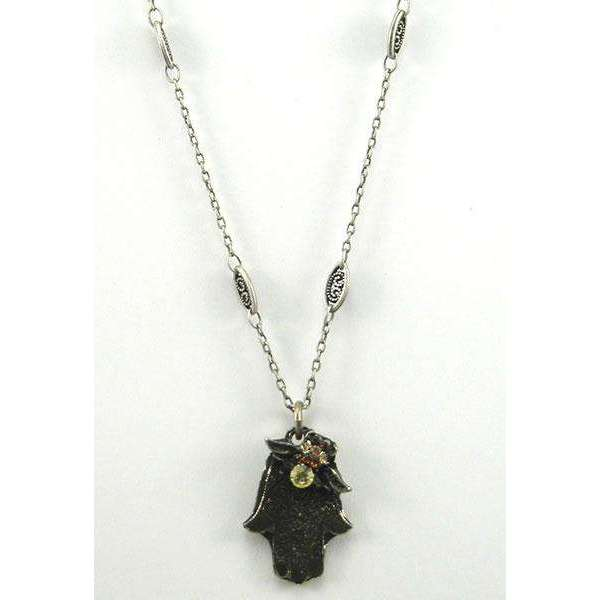La Contessa Hamsa Necklace With Bumblebee