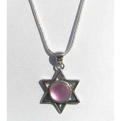 LeightWorks Star of David With Pink Crystal