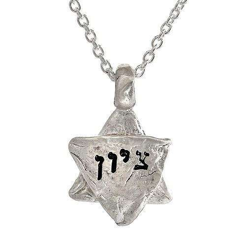 Liza Shtromberg Zion Star of David Necklace With Western Wall Imprint