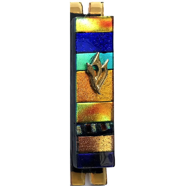 Daryl Cohen Glass Design Desert Winds Mezuzah