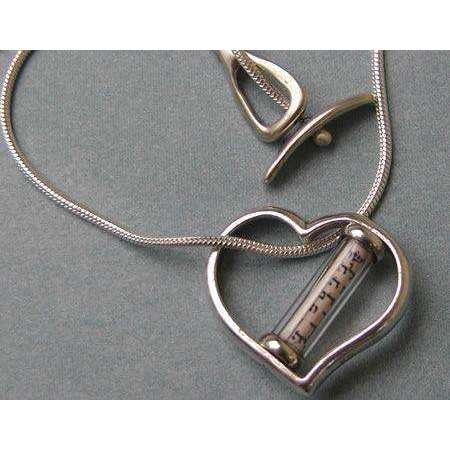 Michael Bromberg Heart Mezuzah Charm Necklace