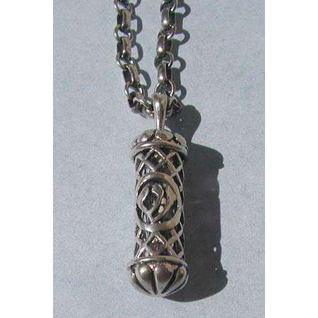 Michael Bromberg Men's Mezuzah Pendant Necklace in Sterling Silver