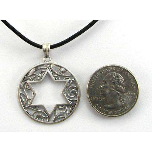 Michael Bromberg Open Star of David on Leather Cord