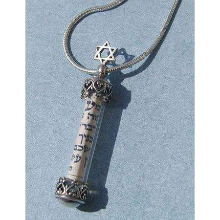 Michael Bromberg Star of David Mezuzah Necklace