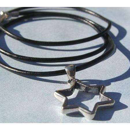 Michael Bromberg Star of David on Leather
