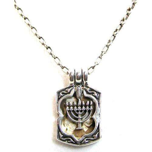 Michael Bromberg Sterling Silver Menorah in Motion Photo Locket Necklace