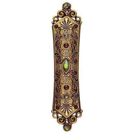Michal Golan Abalone and Garnet Mezuzah