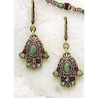 Michal Golan African Turquoise Hamsa Earrings